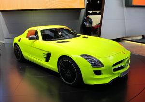 Mercedes-Benz SLS AMG E-Cell en Detroit 2011