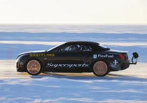 Bentley Continental Supersports Convertible impone récord de velocidad sobre hielo