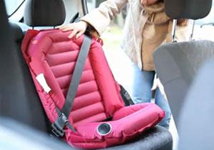 Asiento de seguridad para chicos completamente inflable