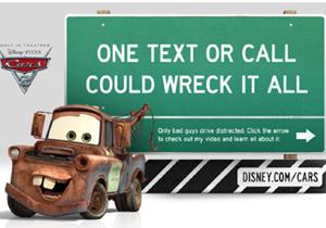 Cars 2 promueven no hablar por celular mientras se maneja