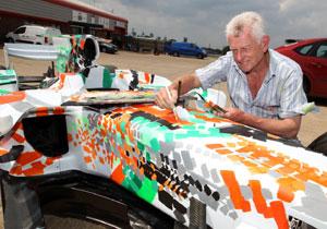 Force India y Dexter Brown hacen de un F1 una obra de arte