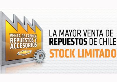 Chevrolet: Repuestos y accesorios con descuentos de hasta 90%