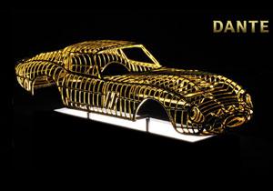 Una estructura de Ferrari 250 GTO de oro de 24 kilates