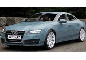 Sorprendente réplica del Audi A7 hecha de papel