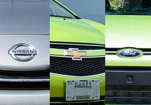 Nissan March 2012 vs Chevrolet Spark 2011 vs Ford Ikon hatchback 2012