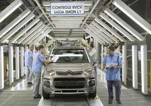 El Citroën C3 AIRCROSS en la línea de producción