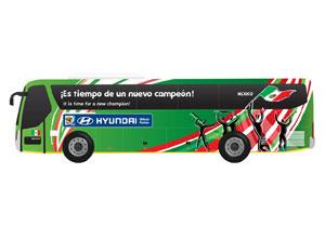 Los 32 autobuses de las selecciones del mundial y sus slogans