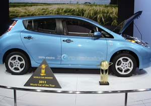 "El Nissan LEAF ganó el premio ""WORLD CAR OF THE YEAR 2011"""