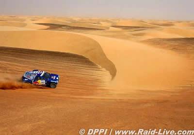 Sainz y De Villiers quedan sin opciones en la 9a etapa del Rally Dakar