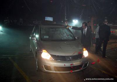 Bautizan al primer Nissan Versa (Tiida) en la planta de Aguascalientes