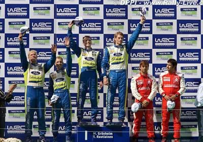 La pelea por el campeonato WRC se cierra, Gronholm gana en Finlandia