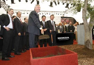 Honda Argentina comenzó la construcción de su planta