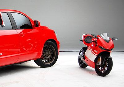 Toyota Tundra Ducati Desmosedici Transporter