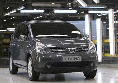 Nissan inicia la producción de su monovolumen Livina en Brasil