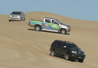 Travesías 4x4 de Toyota en Pinamar