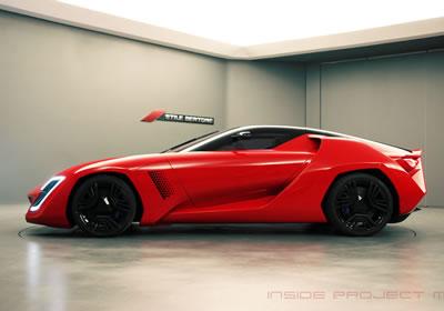 Stile Bertone Mantide, basado en el Corvette ZR1