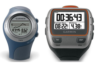 Relojes con GPS, Garmin 405CX y 310XT