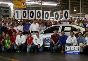 Ford celebra el Fusión 1 millón producido en México.