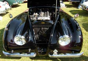 El Jaguar XK120 de 1953 fue el ganador del Concurso de la Elegancia 2010