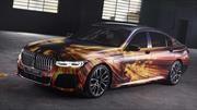 Un BMW 745Le es convertido en obra de arte