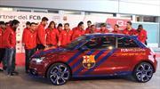 Jugadores del Barça reciben nuevos vehículos Audi