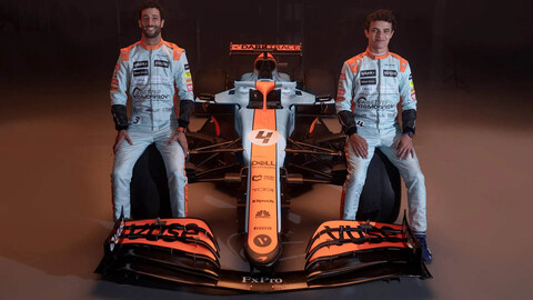 McLaren se vestirá con los icónicos colores de Gulf para el GP de Mónaco