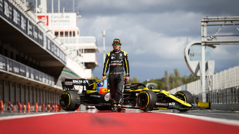Fernando Alonso ya se prueba el Renault F1