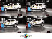 La Ford EcoSport sale airosa en el crash test de Latin NCAP