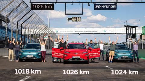 Hyundai Kona eléctrico logra recorrer 1,000 kilómetros con una carga