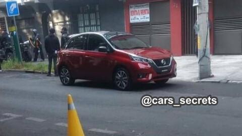 La imagen del Nissan March 2021, se filtra nuevamente durante el rodaje de material publicitario