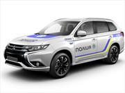 Mitsubishi Outlander PHEV, nuevo carro de la policía ucraniana