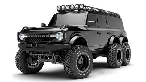 Ford Bronco 6x6 por Maxlider Brothers Customs: La bestia negra del off-road