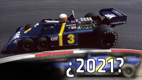 ¿Cómo se vería el Tyrrell de seis ruedas en la F1 de hoy?