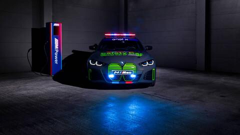 El i4 de BMW es el nuevo Safety Car de las motos eléctricas