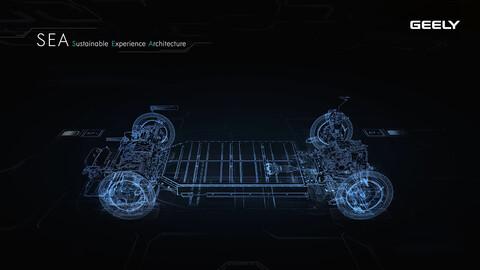 SEA, la nueva plataforma modular de Geely para autos eléctricos