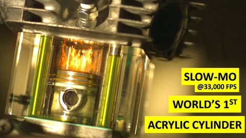 Pornografía mecánica: mirá como trabaja un pistón en cámara superlenta