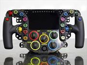 ¿Para qué sirven los botones de un volante de auto de carreras?