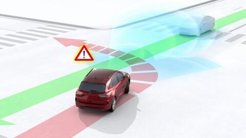 Ford mejora el monitor de punto ciego con un asistente automático en el volante