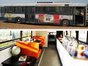 Convierten autobús viejo en un motorhome de lujo