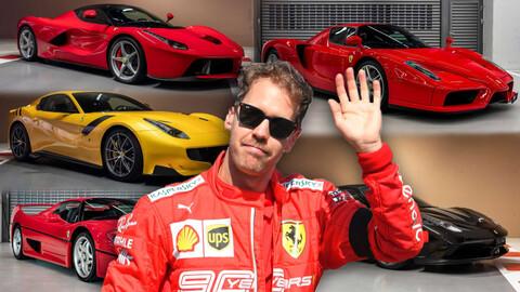 Sebastian Vettel pone en venta toda su colección de Ferraris