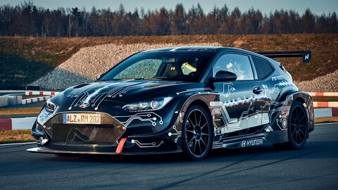 Hyundai RM20e Racing Midship es un agresivo auto eléctrico con más de 800 hp