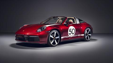 Porsche 911 Targa Heritage Design Edition, con inspiración retro