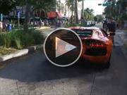 Video: un Lamborghini Aventador se incendia en Miami