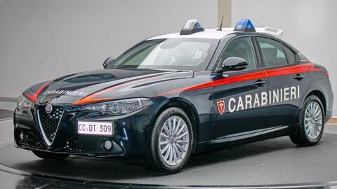 Alfa Romeo Giulia es la nueva patrulla de los Carabinieri, la fuerza armada militar italiana