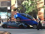 Un Lamborghini Huracán Spyder ocasiona aparatoso accidente
