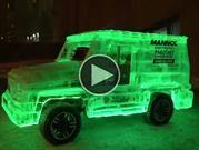 Video: Una sorprendente réplica del Clase G hecha de hielo