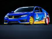 Este es el Sonic Civic de SEGA y Honda