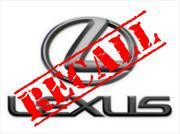 Recall de Lexus a 5,000 vehículos