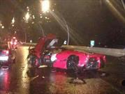 Destruyen una Ferrari LaFerrari en China