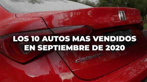Los 10 autos más vendidos en Argentina en septiembre de 2020